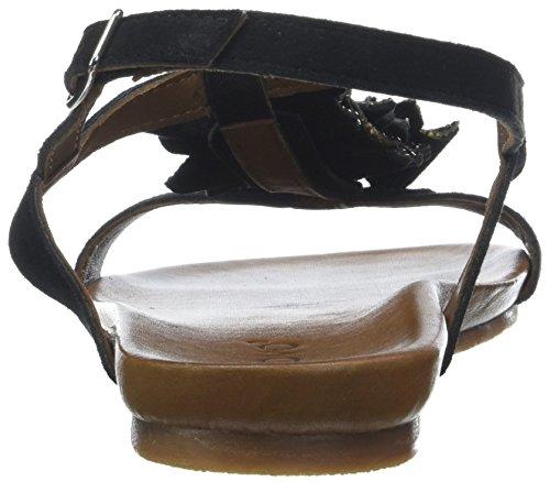 Delle nero bar Nero Sandali Inuovo Donne T 8593 HHwzU