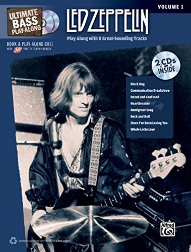 Bass Guitar Tab Cd (Ultimate Bass Play-Along Led Zeppelin, Vol 1: Play Along with 8 Great-Sounding Tracks (Authentic Bass TAB), Book & 2 CDs (Ultimate Play-Along))