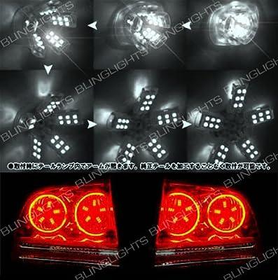 White LED Spider Light Bulbs 3157 Set of 2 for Tail Stop Brake Reverse Lamps Dual Brightness 5050 SMD