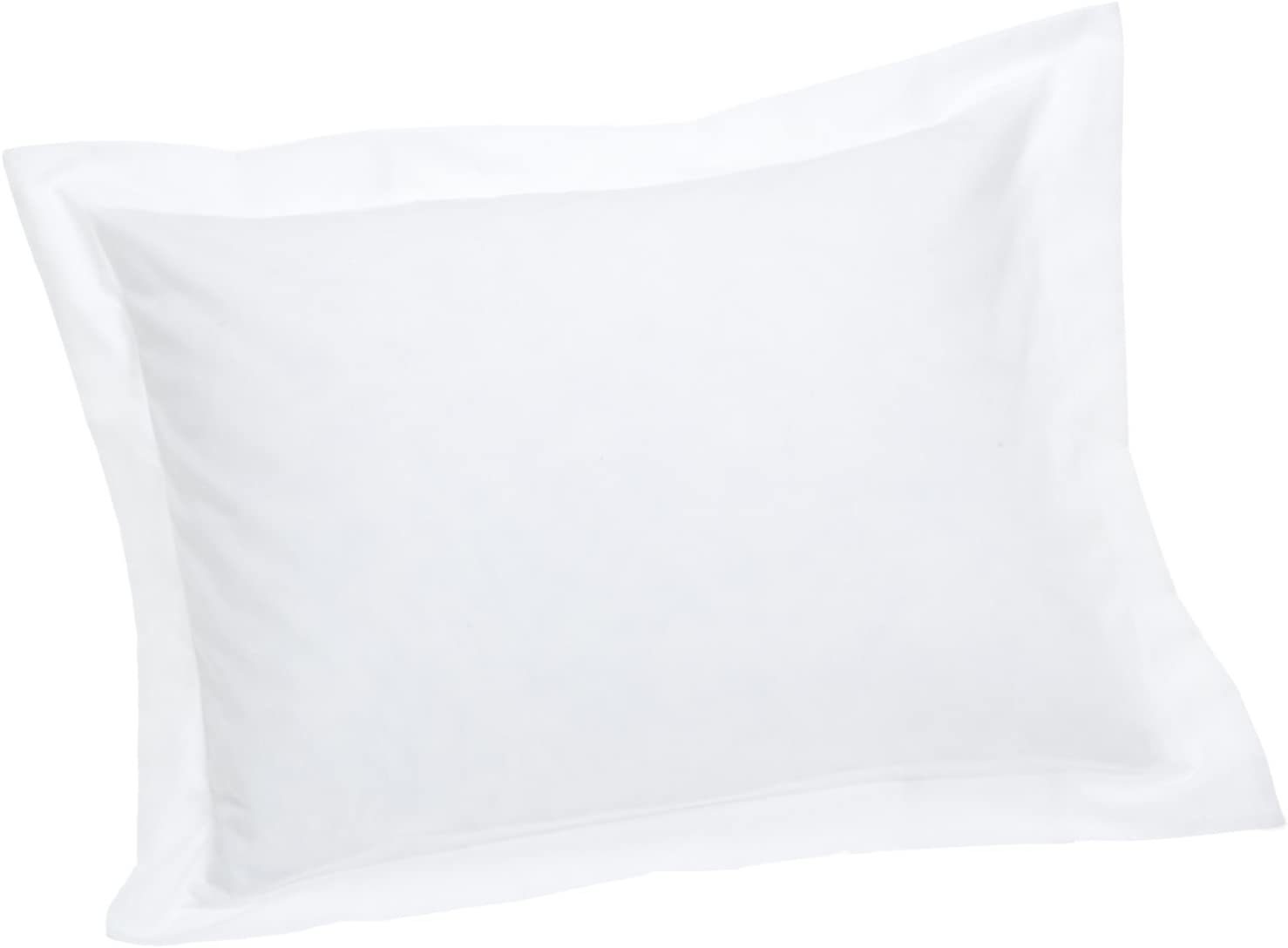 Today's Home Pillow Shams Soft Microfiber Tailored Classic Styling, Standard, White (2 Pack)