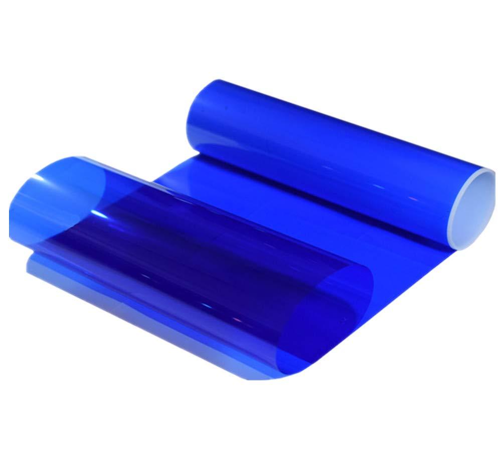 Blue Moyishi Colorful Transparent Vinyl Car Window Tinting Roll 12x78