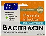 3 Pk. Family Care Bacitracin ZincOintment Original Strength