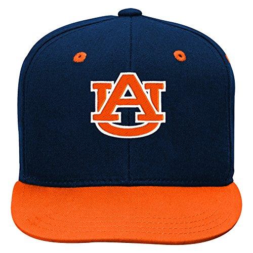 Gen 2 NCAA Auburn Tigers Kids Two Tone Flatbrim Snapback Hat, Kids One Size, Dark Navy