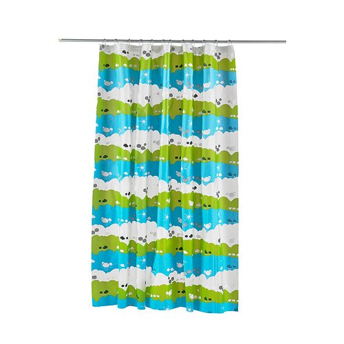 Ikea Lindan Shower Curtain, Multicolor