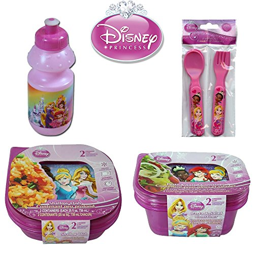 disney-princess-kids-9-piece-reusable-lunch-container-kit-water-bottle-spoons-forks-sandwich-and-sal