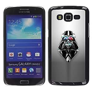 MobileHut / Samsung Galaxy Grand 2 SM-G7102 SM-G7105 / Vader Sci Fi Movie Character Space / Delgado Negro Plástico caso cubierta Shell Armor Funda Case Cover