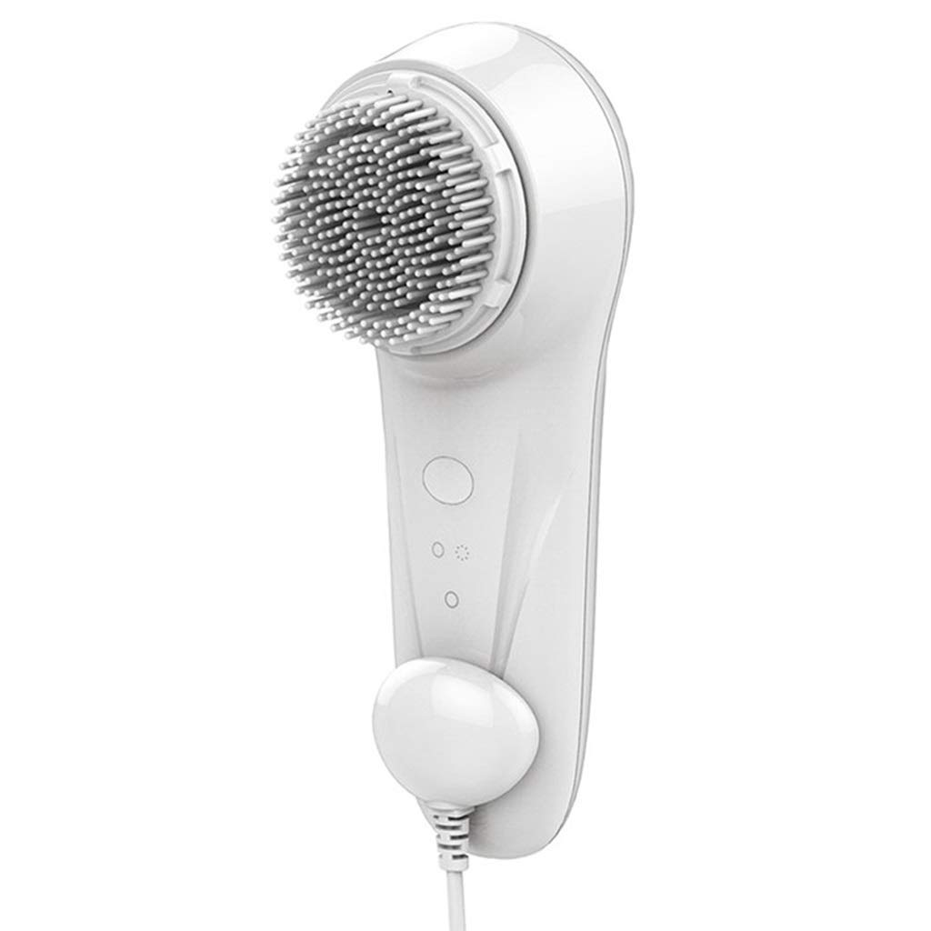 I want to fly freely Cleansing Instrument Electric Sonic Vibration Wash Brush Face Instrument Pore Cleaner Waterproof Wash Artifact Color : White (2 Sets) by I want to fly freely
