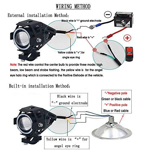 Motorcycle Headlight Cree U7 LED Fog Lights Spotlight ... on