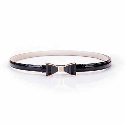Cintura fiocco moda cintura decorativa Lady centinaia di abiti con cintura sottile-E Unica