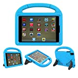 iPad 9.7 Case, iPad 9.7 Covers for Kids - ThreeJ Light Weight Portable Shockproof Super Protection Handle Stand Cover for iPad 9.7 2018/2017 (iPad 9.7-inch, Blue)