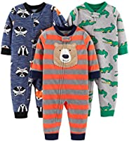 Simple Joys by Carter's Baby and Toddler Boys' 3-Pack Loose Fit Fleece Footless