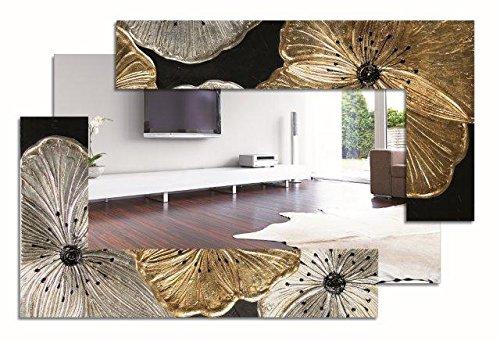 Spiegel rechteckig SCOMPOSTA Petunia Platin P4014PINTDECOR