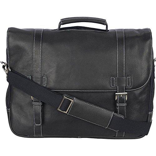 t Vacqueta Porthole-Handle Genuine Leather Brief Black (Porthole Laptop Briefcase)