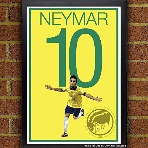 Neymar Poster - Brazil Soccer Art