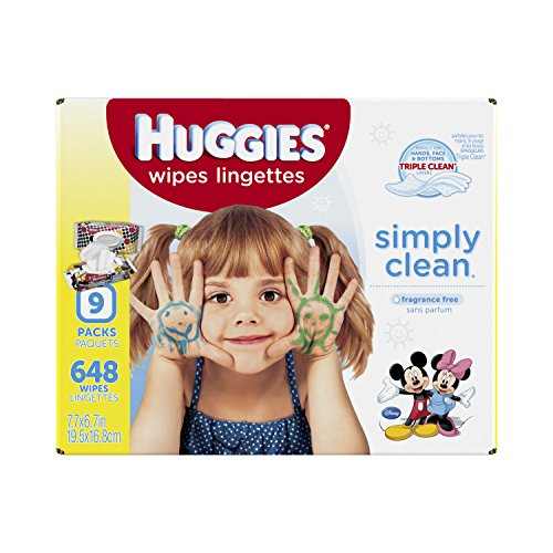 Huggies Simply Clean Baby Wipes Refill 648 Count