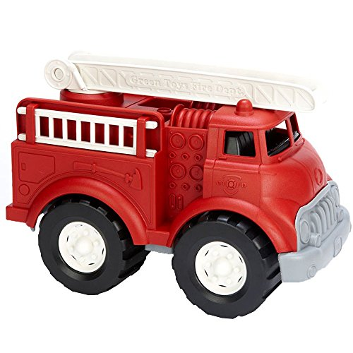 Green Toys Fire Truck - BPA Free, Phthalates Free Imaginative Play Toy for Improving Fine Motor, Gross Motor Skills. Toys for Kids -