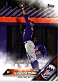 2016 Topps #312 Curtis Granderson New York Mets Baseball Card in Protective Screwdown Display Case