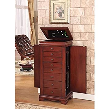 Great Nathan Direct Marquis 8 Drawer Lockable Jewelry Armoire With 2 Side  Compartments And A Lift