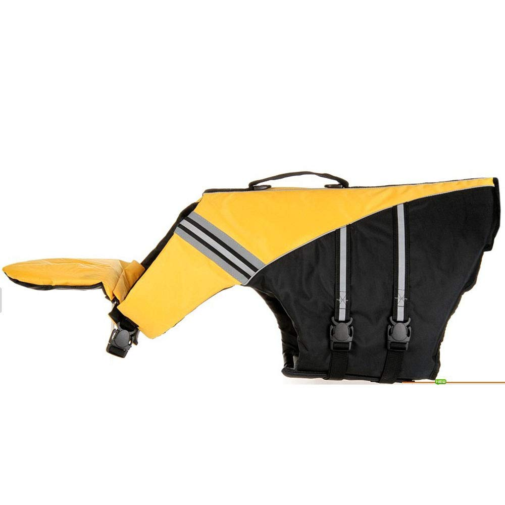Yellow X-Small Yellow X-Small Professional Pet Life Jacket Swimming Clothes Dog Outdoor Products Medium and Large Dog Buoyancy Swimsuit Dog Swimsuit Rescue Clothing