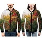 iPrint Hoodies for Men Pullover Active Lightweight Sweatshirt with,Reflection View at The