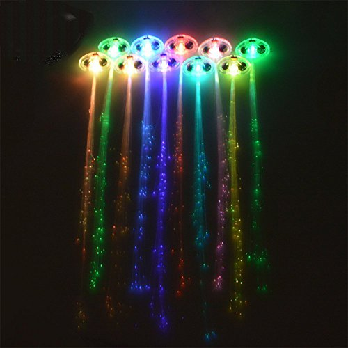 Light Up Fiber Optic Led Hair Lights in US - 8
