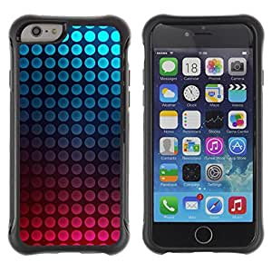 "All-Round Hybrid Rubber Case Hard Cover Protective Accessory Compatible with Apple iPhone 6PLUS ¡ê¡§5.5"") - dot vibrant teal pink bubbles"