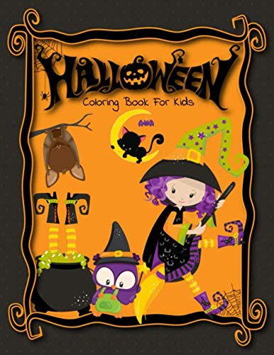 Draw A Halloween Witch (Halloween Coloring Book: Cute Halloween Coloring Book For)