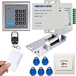 UHPPOTE Full Complete 125KHz EM-ID Card 1 Door Access Control System Kit With Electric Strike Lock Remote Control