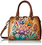 Anuschka Hand Painted Leather Women's Zip Around Classic Satchel