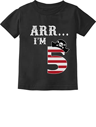 ca48b191a Amazon.com: ARR I'm 5 Pirate Birthday Party Five Years Old Toddler ...