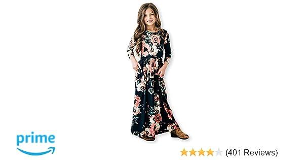 ceabeaefb1 Amazon.com  Girls Maxi Dress