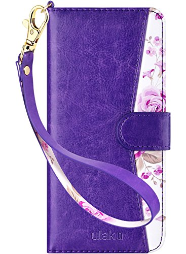 ULAK Galaxy S8 Plus Case, Galaxy S8 Plus Wallet Case with Kickstand for Women Card Holder ID Slot Hand Strap Shockproof Full Protective PU Leather Cover (NOT for Galaxy S8)-Purple