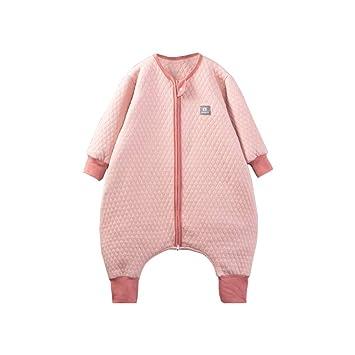 HAIMING-sleeping bag Saco De Dormir Pierna Dividida Mono De Bebe Pijamas De Bebe-Calzas para Niños Anti-Kick Edredón De Dos Vías Cremallera Rosca Puños: ...