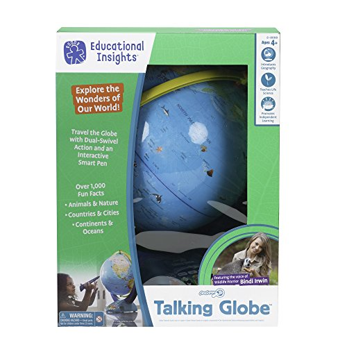 51UH7kSKANL - Educational Insights GeoSafari Jr. Talking Globe Featuring Bindi Irwin Learning Toy
