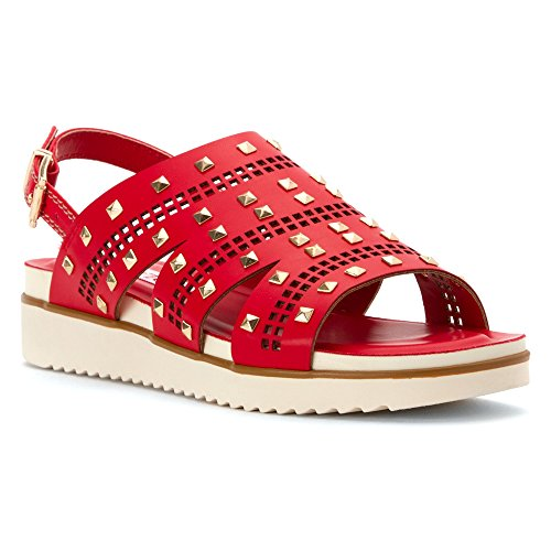 oo Gilbert Toe Ring Sandal, Red, 8 M US (Red Lips Sandals)