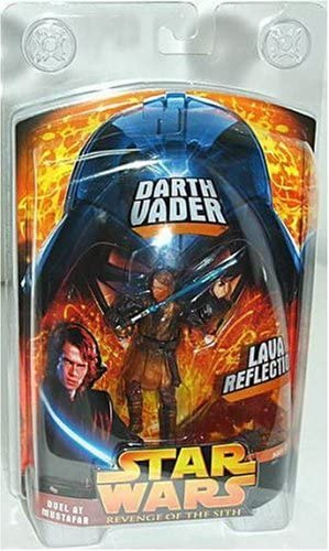 Amazon Com Star Wars Revenge Of The Sith Lava Reflection Darth Vader Action Figure Toys Games
