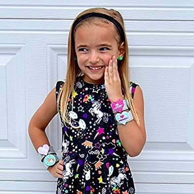 6 Cute Slap Bracelets for Kids, Glitter Slap Bracelets w/ 3D Mermaid, Unicorn, Llama & Corgi Designs, Birthday Party Favors, Easter Basket Stuffers, Snap Bracelet Pack Changes Patterns When Moved: Toys & Games