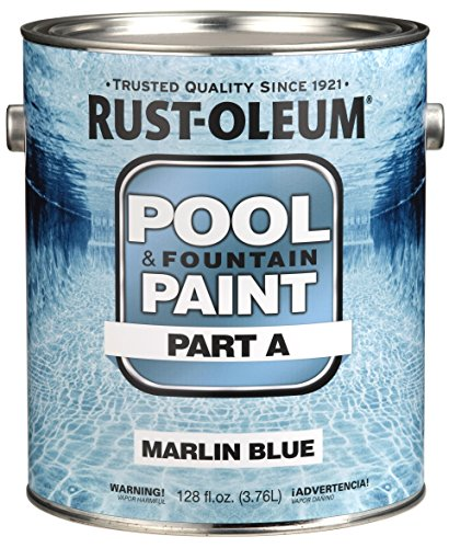 Rust-Oleum 267940 Epoxy Pool and Fountain Paint Kit, Kit, 2-Gallon, Marlin Blue