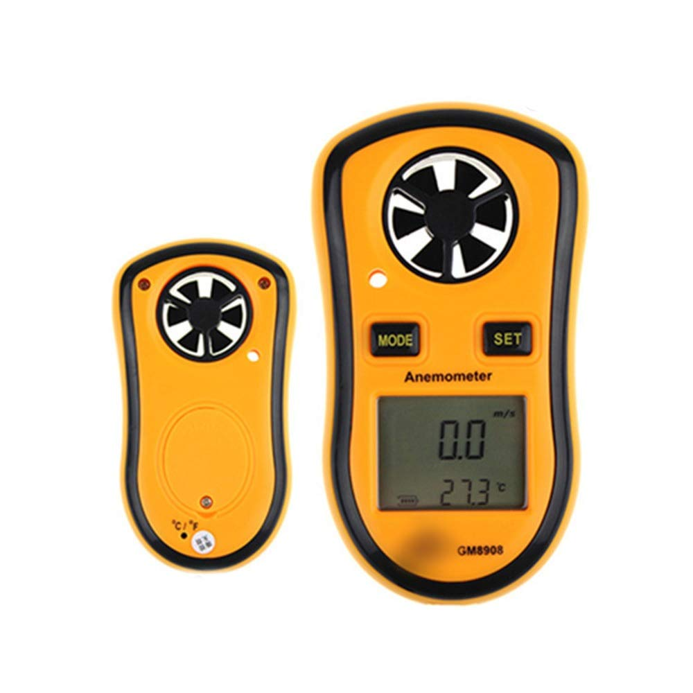 Sugoishop Digital Anemometer Pocket Anemometer Wind Gauge (Color