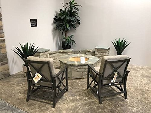 New Bridgemen patio rocking chairs Set of 4 by Agio (Furniture Agio Wicker)