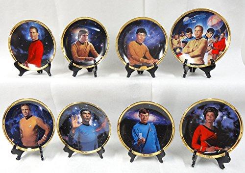 Star Trek Hamilton Set of 8 Plates 25th Anniversary Commemorative COA's & Boxes