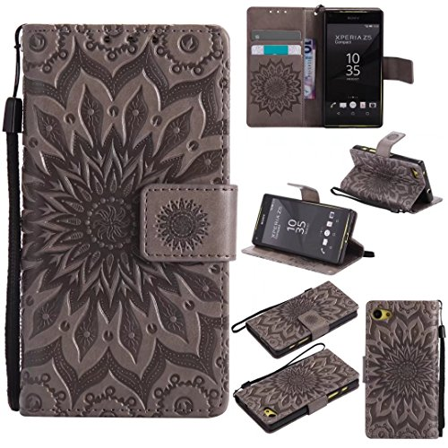 COWX Sony Xperia Z5 compact / Z5 mini Hülle Kunstleder Tasche Flip im Bookstyle Klapphülle mit Weiche Silikon Handyhalter PU Lederhülle für Sony Xperia Z5 compact / Z5 mini Tasche Brieftasche Schutzhü VRPIaQ1ve