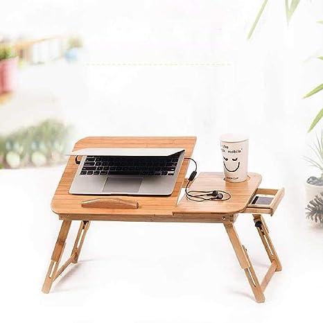 LRQHHZYQ Mesa de Cama para Portátil Laptop, Mesa Plegable de Bambú ...
