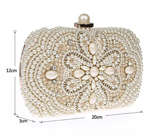 Chain Shoulder Clutch Elegant Bag Handbag Party Wedding Bags Bag Women's Evening White Bag Clutch Bag f0xTWPy