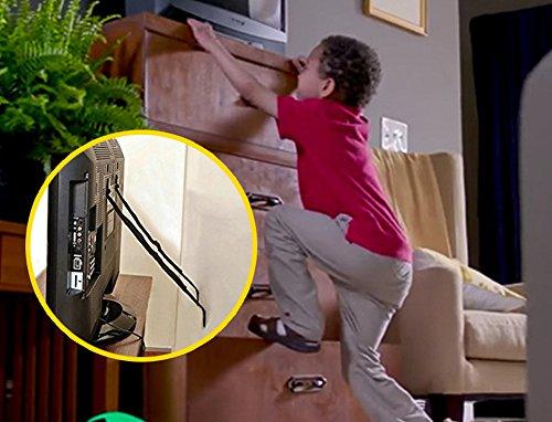 Muebles & TV Seguridad Correas de (2unidades, todas las piezas de metal, sin plástico, Heavy Duty Durable Anclas,)...