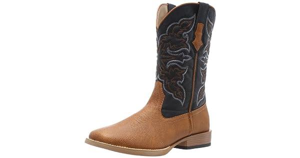 c972f999ad9 Roper Men's Square Toe Cowboy Boot Tan 10 D - Medium: Amazon.com ...