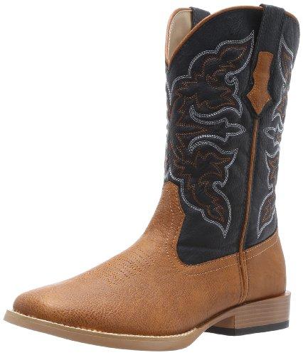 Cowboy Boots Tip Boot (ROPER Men's Square Toe Cowboy Boot, Tan, 10.5 D - Medium)