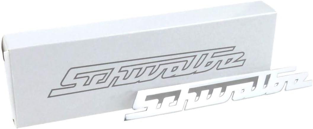 Schriftzug Schwalbe Aluminium Silber Gerade Für Knieschutzblech Vorderteil Auto