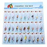 Dcolor 30 X Metal Mixed Spinners Fishing Lure Pike Salmon Baits Bass Trout Fish Hooks
