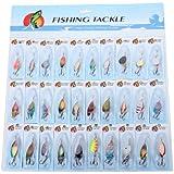 30pcs Cuillers de Pêche à la Truite Perche Sandre Brochet Leurres Carnassier UK